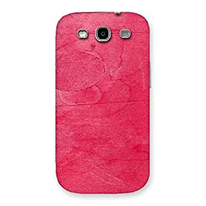 Special Pink Wood Work Multicolor Back Case Cover for Galaxy S3