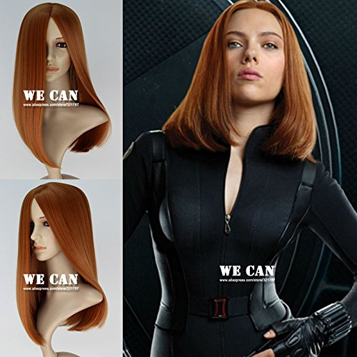 Captain America 2 Black Widow Wig