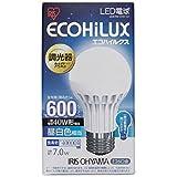 アイリスオーヤマ LED電球 調光器対応 E26口金 40W形相当 昼白色 下方向タイプ 密閉形器具対応 エコハイルクス LDA7NHDV1