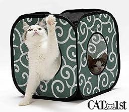 CAT1st Ninja Cat Cube, Green