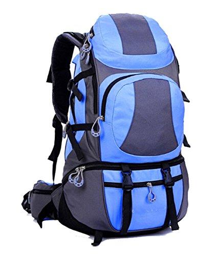 lethigho alpinismo viaggio zaino 45L escursionismo outdoor sport zaino per trekking campeggio arrampicata Unisex Casual Spalle Borsa Da Ciclismo, Light Blue