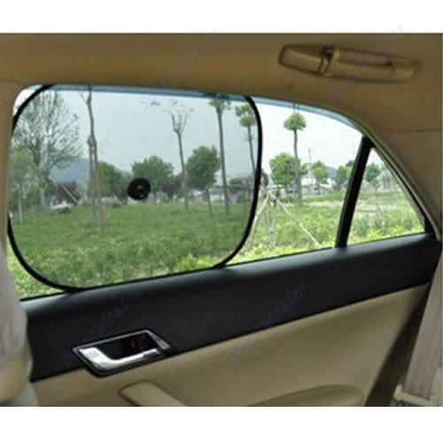 Virtual Store USA 2 Pack Premium Car Seat Sun Protection ~ Keep your Car Cool ~ Protect Children, Pets and Yourself with this Premium Quality Sun Shade Visor! ~ 100% Satisfaction Guarantee