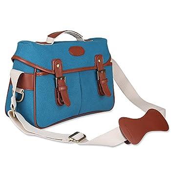 Kattee Vintage PU Leather/ Canvas DSLR Camera Shoulder Bag for Canon Nikon, etc