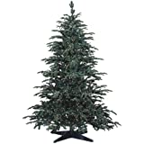 Barcana Ready Trim Pre-Lit 10-Foot PE/PVC Christmas Tree with 1100 Clear Mini, Star Fir