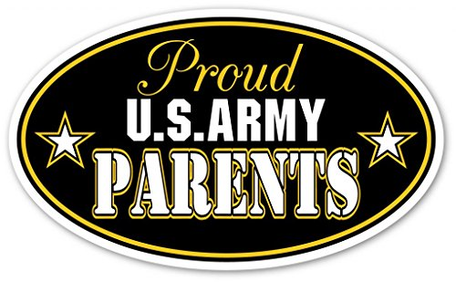 Proud Parents of US Army Vinyl Bumper Sticker Decal - Ideal For use on Car windows, Bumpers, Walls, Doors, Glass Windows or Any Other Clean Smooth Surfaces 3