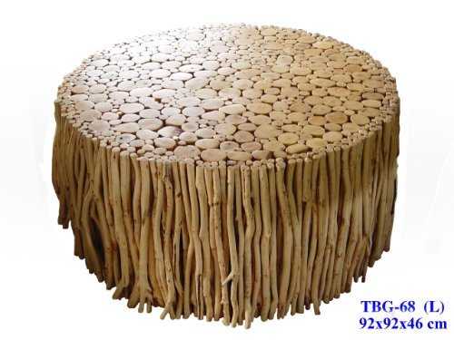 Mango Wood Stick Coffee Table Custom Sizes Available Natural