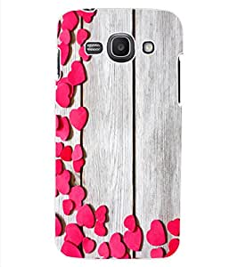 ColourCraft Beautiful Hearts Pattern Design Back Case Cover for SAMSUNG GALAXY ACE 3 S7272 DUOS