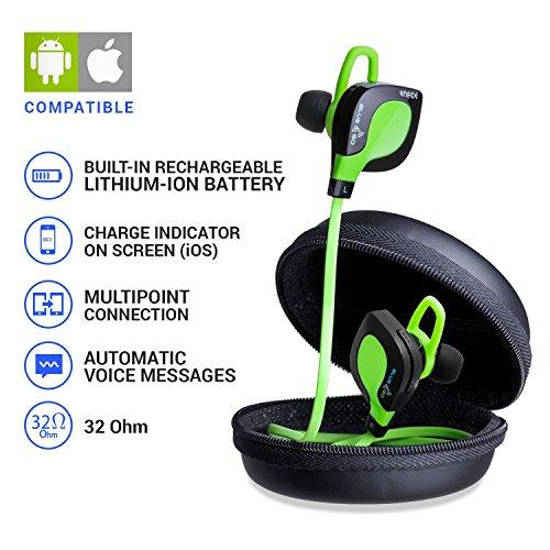 Cuffie Wireless. Auricolari Sport Blue&Go Sport 1. Bluetooth 4.1 - Audio HD APT-X- NFC - 32 Ohms - Compatibile con iPhone / iPad / iPod / Mac / Android.