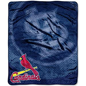 MLB St Louis Cardinals Raschel Plush Throw Blanket, Retro Design by Northwest
