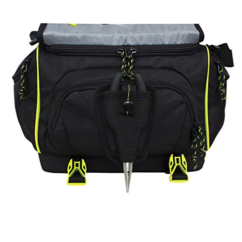 Spiderwire orb spider fishing tackle bag black outdoor for Amazon fishing gear