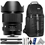Sigma 20mm f 1.4 DG HSM Art Lens for Nikon F DSLR Cameras w Essential Photo and Travel Bundle - Including: DSLR Camera Sling Backpack - Pro 67