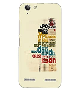 PrintDhaba Typography D-5557 Back Case Cover for LENOVO VIBE K5 PLUS (Multi-Coloured)