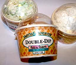 Double Dip Ice Cream Cup Fizzy Bath Bomb by Smith Vandiver ~ 3 Pack ~ Chocolate Mint Cherries Mandarin
