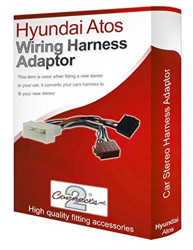 hyundai atos cd radio stereo wiring harness adapter lead loom iso converter  wire