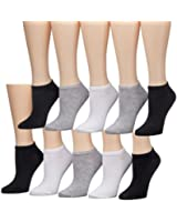 Tipi Toe Women's 10 or 20 Pack Colorful Patterned No Show Socks