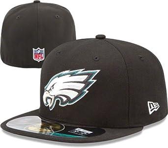 NFL Mens Philadelphia Eagles On Field 5950 Black Cap By New Era by New Era