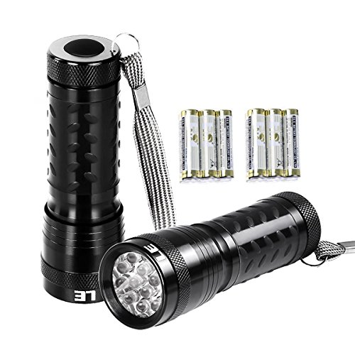 LE-2-Packs-Super-Bright-LED-Flashlights-14-LED-Waterproof-IP44-6-AAA-Batteries-Included-3-for-each-Handheld-Flashlights