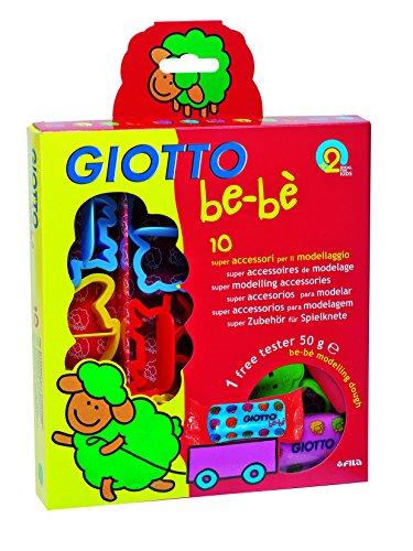 Giotto be-bè 464200 - Blíster con 10 accesorios para moldear y 1 pastilla de súper pasta para jugar de 50 g