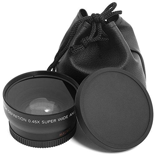 52mm 0.45 fach Weitwinkel und Macroobjektiv Wide Angle für Nikon D800 D600 D300S D7100 D7000 D5200 D5100 D3200 D3100 D3000 D90 D80 LF36