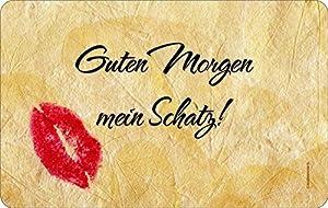 """Klasse Geschenkidee z.B. Valentinstag! Frühstücksbrettchen- Motiv: """"Guten Morgen mein Schatz!"""""""