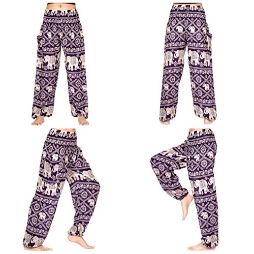 Elephant Pants Women's Comfy Pants Elephant Design (Cute Halloween Pic)