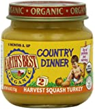 Earth's Best Organic Country Dinner Baby Food, Harvest Squash Turkey, 4 Ounce (Pack of 12)