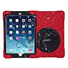 For Apple Ipad Mini / Mini 2 / Mini 3 -- Bolkin® X-rotate Series Hybrid Armor Series Shockproof / Dirtproof / Rainproof / Snowproof Case Cover & Stand (Red)