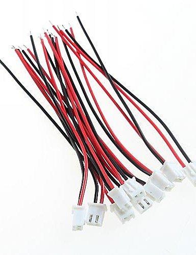 XMQC*20pcs XH cavo singolo / filo elettronico / XH2.54-2P singole linee / altra estremità stagnate / lunga 10cm