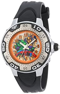 Marvel Comics Kids' MA0108-D531-Black Marvel Heroes Spectrum Watch