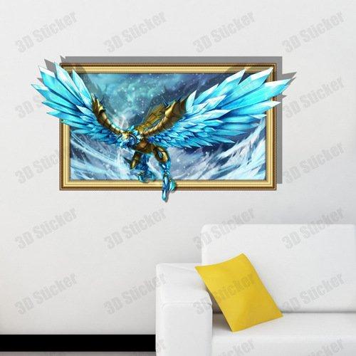 jinrou-de-los-ninos-regalos-creative-3d-eagle-color-azul-adhesivo-de-pared-papel-pintado-dormitorio-