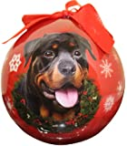 Rottweiler Christmas Ornament Shatter Proof Ball Easy To Personalize A Perfect Gift For Rottweiler Lovers