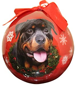 Rottweiler Christmas Ornament Shatter Proof Ball Easy To Personalize A