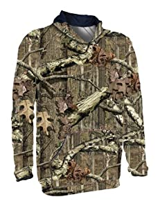 Russell Outdoors Youth Tech Performance Fleece Pullover Hood, Mossy Oak Infinity, Medium