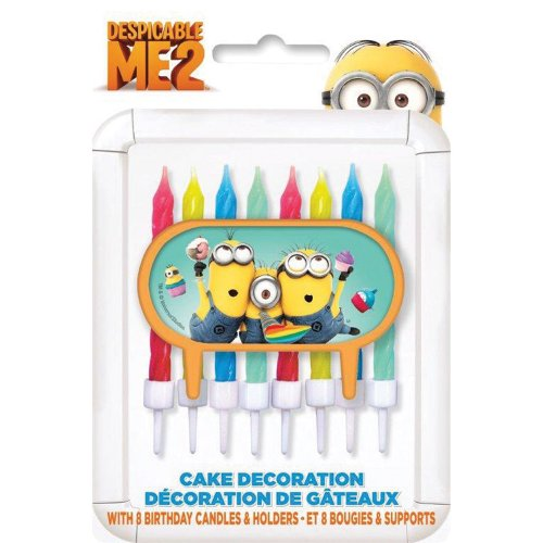 Despicable Me Birthday Candles - Birthday and Theme Party Supplies - 8 Per Pack - 1