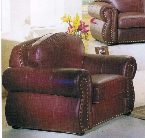 Buy Best Sofa Chair Nail Head Trim Burgundy Brown