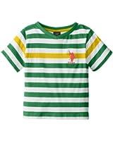 U.S. Polo Assn. Little Boys' Short-Sleeve Engineered Stripe V-Neck T-Shirt