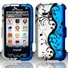 For Samsung Galaxy Rush M830 (Boost) Rubberized Design Cover - Blue Vines