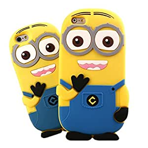 3D Double Eye Despicable For Apple Iphone 6 Cases Back Cover