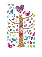 Ambiance Sticker Vinilo Decorativo Tree And Birds Fluorescent