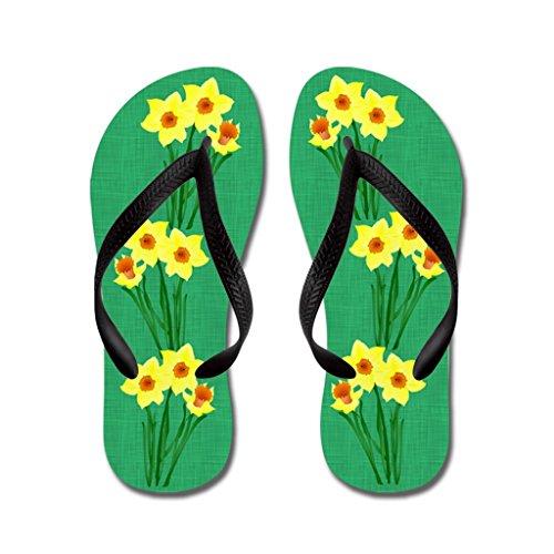 544089563d252 Gueskie Beautiful Yellow daffodils flip flops Adults S
