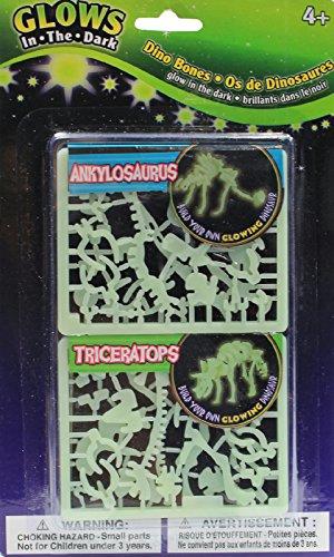 Glow in the Dark Dino Bones Ankylosaurus & Triceratops Puzzle Build Your Own Dinosaur