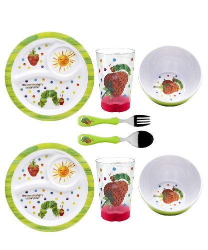 Zak Designs 8-Piece Very Hungry Caterpillar Dinnerware Set