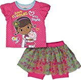 Disney Doc McStuffin Toddler Girl's 2 Piece Shirt and Skeggin Set