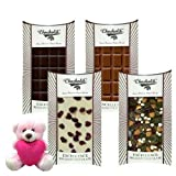 Valentine Chocholik Premium Gifts - Rich Collection Of Yummy Chocolates Bars With Teddy