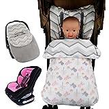 GudeHome Saco de dormir para para el asiento del beb� en el coche Saco portabeb�s beb� Manta para capazos y sillas de coche para beb� 45*90CM (polluelo rosado)