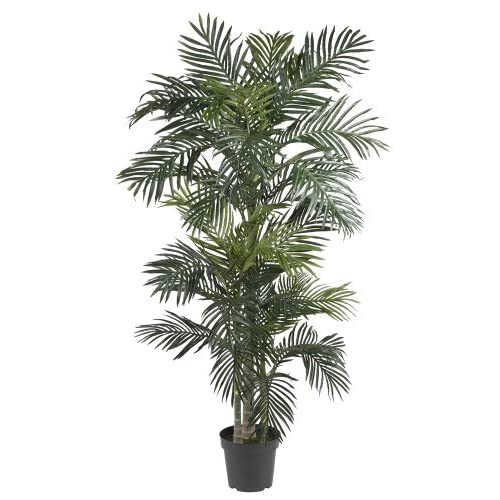 Nearly Natural 5289 Golden Cane Palm Silk Tree, 6.5-Feet, Green
