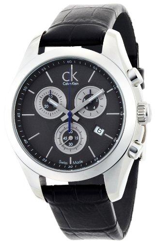 Calvin Klein Strive K0K28161 - Reloj de mujer de cuarzo, correa de piel color negro