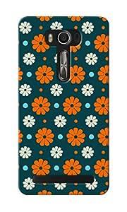 CimaCase Floral Designer 3D Printed Case Cover For Asus Zenfone 2 Laser ZE550KL
