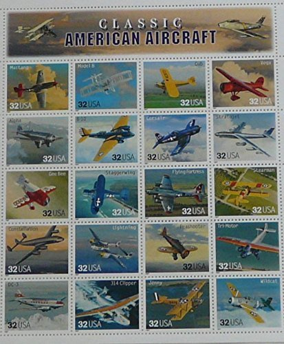 1997 Classic American Aircraft - Sheet of Twenty Stamps Scott 3142 by USPS