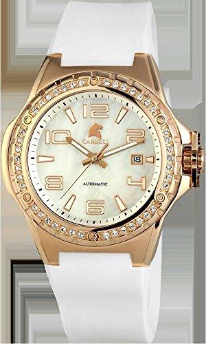 Carucci Watches CA2213RG-WH - Reloj para mujeres, correa de goma color blanco